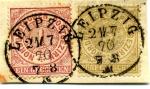 Stamps Europe - Germany -  Cifras .5 +1 g. Confederacion Alemania del Norte