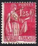 Stamps France -  La Paz con la rama de olivo.