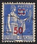 Sellos del Mundo : Europa : Francia :  La Paz con la rama de olivo.