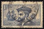 Sellos del Mundo : Europa : Francia :  400 Aniv. descubrimiento de Canadá por Jacques Cartier navegante y explorador francés.