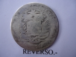 monedas de America - Venezuela -  Estados Unidos de Venezuela-Plata Ley 835