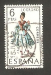 Stamps Spain -  1902 - Traje típico de Logroño