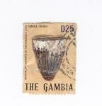 Sellos del Mundo : Africa : Gambia : Instrumentos musicales-Tabala