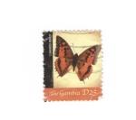 Sellos del Mundo : Africa : Gambia : Mariposas