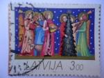 Sellos del Mundo : Europa : Letonia : Navidad - Latvija-letonia.