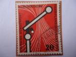 Stamps Germany -  Fahrplankonferenz 1955