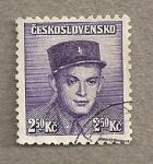 Stamps Czechoslovakia -  Soldado