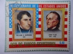 Sellos de Africa - Guinea Ecuatorial -  81 Bicentenario de los Estados Unidos- William H. Harreinson y John Tyler
