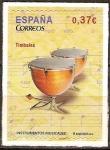 Sellos del Mundo : Europa : España : Instrumentos musicales (Timbales).