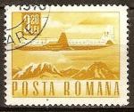 Sellos del Mundo : Europa : Rumania : Transp. y telecomu.Ilyushin Il-18 avión de pasajeros.