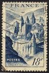 Sellos de Europa - Francia -  Vista de Conques.