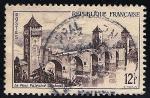 Sellos de Europa - Francia -  Puente Valentre, Cahors.