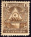 Stamps America - Nicaragua -  Escudo antiguo de Nicaragua. UPU 1898