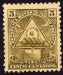 Stamps Nicaragua -  Escudo antiguo de Nicaragua. UPU 1898