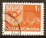Sellos del Mundo : Europa : Rumania : Emblema de Correos y camioneta.