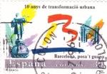 Sellos de Europa - España -  10 Anys de transformació urbana Barcelona posa´t  guapa  (Z)