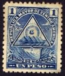 Stamps : America : Nicaragua :  Escudo antiguo de Nicaragua. UPU 1898
