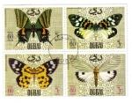 Sellos de Asia - Emiratos Árabes Unidos -  Mariposas