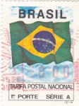 Sellos de America - Brasil -  TARIFA POSTAL NACIONAL