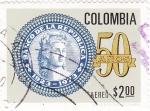 Sellos de America - Colombia -  50 AÑOS BANCO DE LA REPÚBLICA