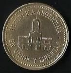 monedas de America - Argentina -  MONEDA ARGENTINA - EN UNION Y LIBERTAD (POSTERIOR)