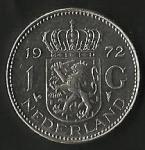 monedas de Europa - Holanda -  MONEDA NEDERLAND - REINA JULIANA (FRONTAL)