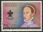 Sellos del Mundo : Asia : Emiratos_Árabes_Unidos : AJMAN STATE - KINGS AND QUEENS OF FRANCE - MARIE STUART