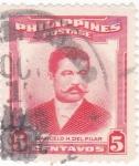Sellos del Mundo : Asia : Filipinas : MARCELO H.DEL PILAR