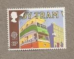 Stamps United Kingdom -  Por autobús y tranvía