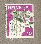 Stamps Switzerland -  Casas