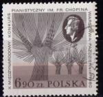 Sellos de Europa - Polonia -  Música. 10º concurso de piano Frederic Chopin