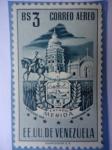 Stamps Venezuela -  E.E.U.U de Venezuela- Estado: Mérida- Escudo