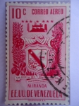Sellos de America - Venezuela -  E.E.U.U de Venezuela- Estado: Miranda- Escudo