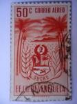 Stamps Venezuela -  E.E.U.U de Venezuela- Estado: Sucre- Escudo