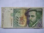monedas de Europa - España -  Bco. de España-Mil Pesetas- Hernán Cortés-Año 1992.