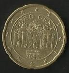 monedas de Europa - Austria -  MONEDA AUSTRIA - EURO CENT (POSTERIOR)