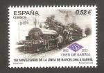 Stamps Spain -  150 anivº de la línea de Barcelona a Sarriá