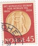 Sellos de Europa - Noruega -  150 ANIVERSARIO DE ALA REAL SOCIEDAD NORUEGA PARA EL DESARROYO