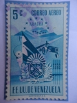 Sellos de America - Venezuela -  E.E.U.U de Venezuela- Estado: Aragua- Escudo
