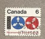 Stamps America - Canada -  Censo población