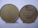 monedas de America - Colombia -  Cent.Constitución Nacional 1886-1936-Reforma Constitucional-Edif.Capitolio Nacional