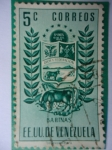 Sellos de America - Venezuela -  E.E.U.U de Venezuela- Estado: Barinas- Escudo