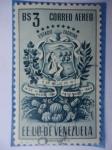 Sellos de America - Venezuela -  E.E.U.U de Venezuela- Estado: Tachira- Escudo