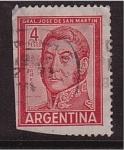 Sellos de America - Argentina -  gral. jose de san martin