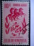 Stamps Venezuela -  E.E.U.U de Venezuela- Estado: Monagas- Escudo