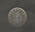 monedas de Europa - República Checa -  León rampante