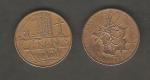 monedas de Europa - Francia -  Mapa de Francia