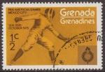 Stamps : America : Grenada :  Granada Granadinas 1975 Scott 101 Sello ** Deportes Pan American Games Mexico Esgrima 1/2c Grenada G