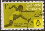 Stamps : America : Grenada :  Granada Granadinas 1975 Scott 102 Sello ** Sports Pan American Games Mexico Hurdling 1c Grenada Gren