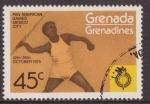 Stamps : America : Grenada :  Granada Granadinas 1975 Scott 105 Sello ** Deportes Pan American Games Mexico Javalina 45c Grenada G
